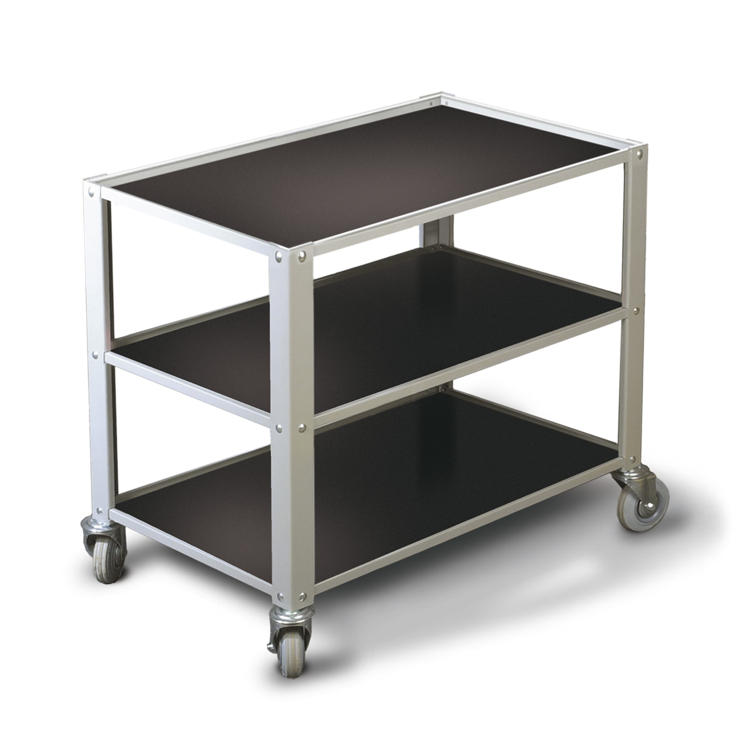 Under-bench trolley (650mm / 3 shelves)