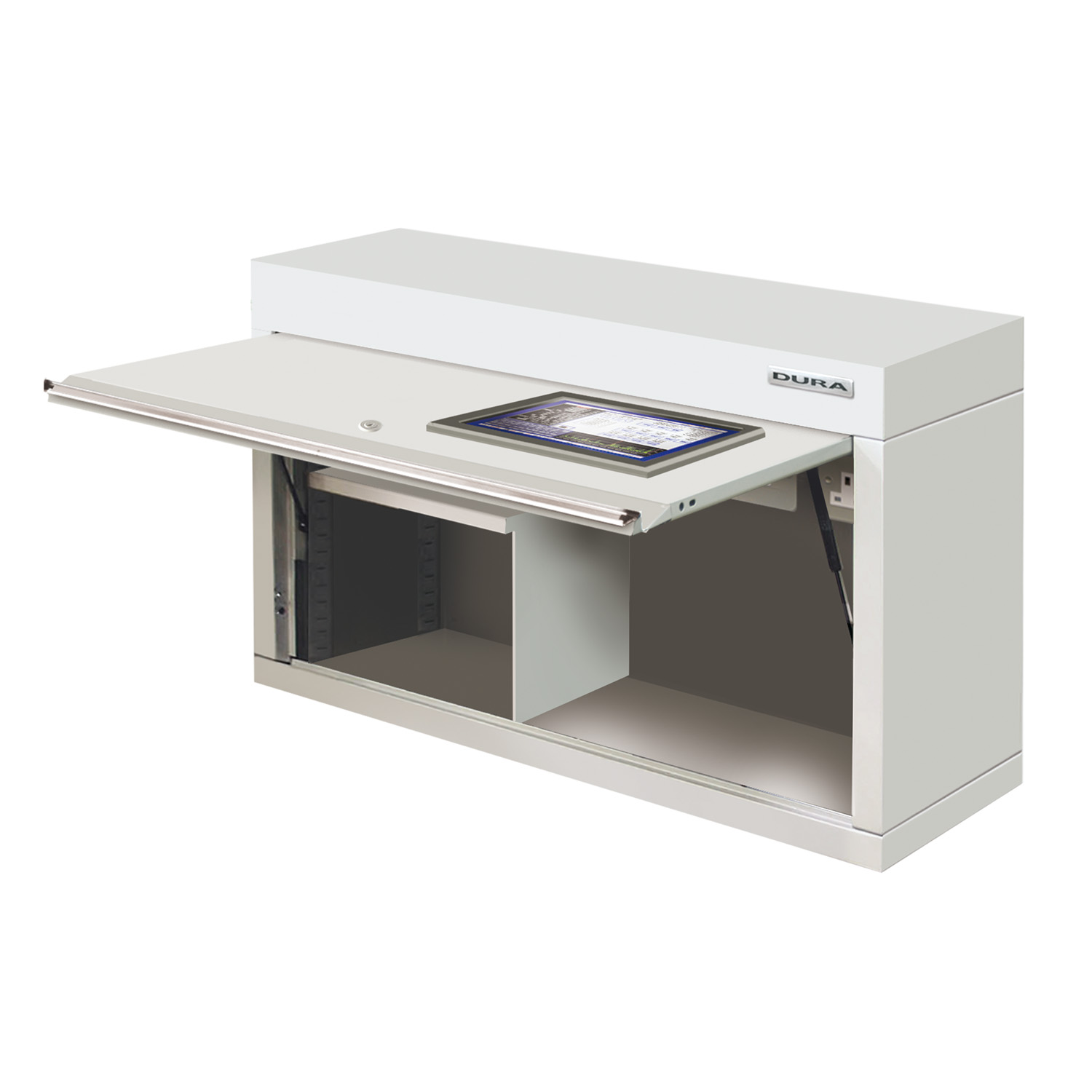 Wall cabinet with VDU window (1200mm)