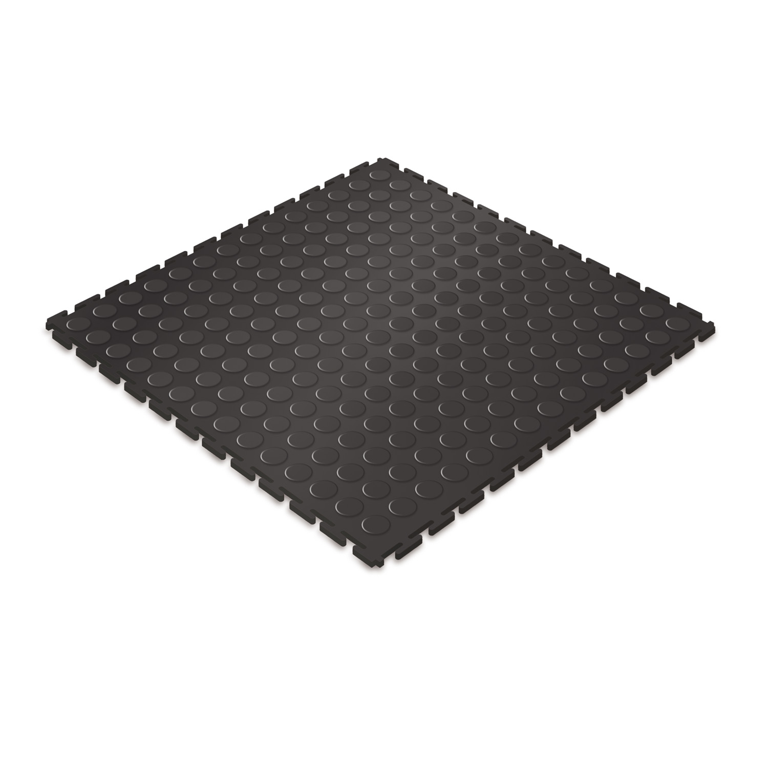 Heavy-duty floor tile (black/studded)