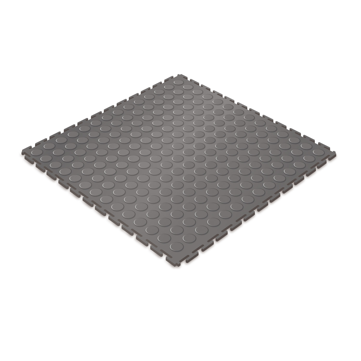 Heavy-duty floor tile (dark grey/studded)