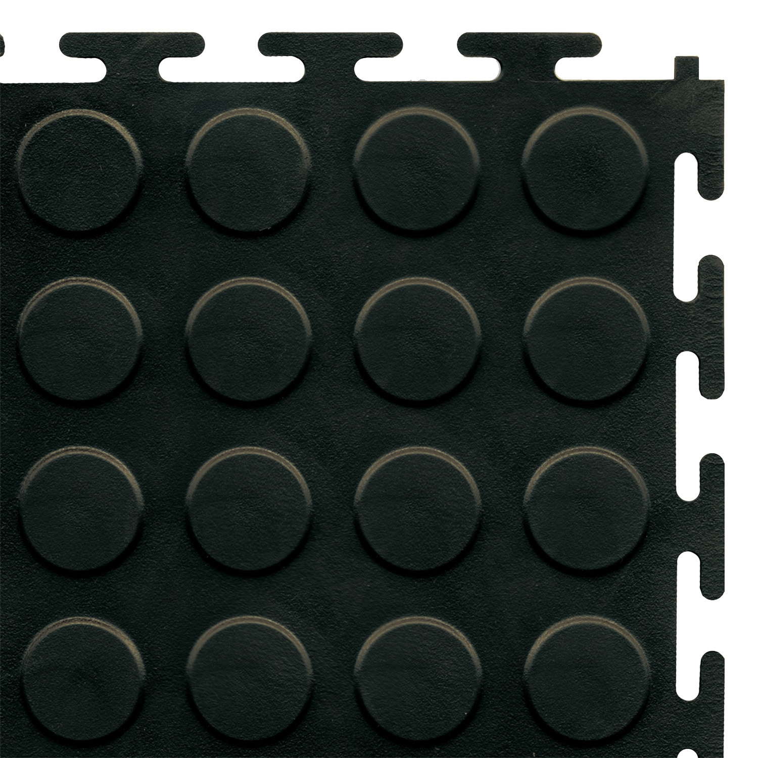 Standard floor tile (black/studded)