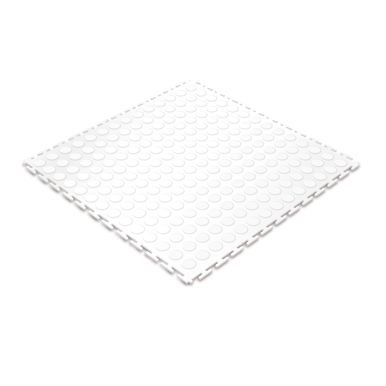 Standard floor tile (white/studded)