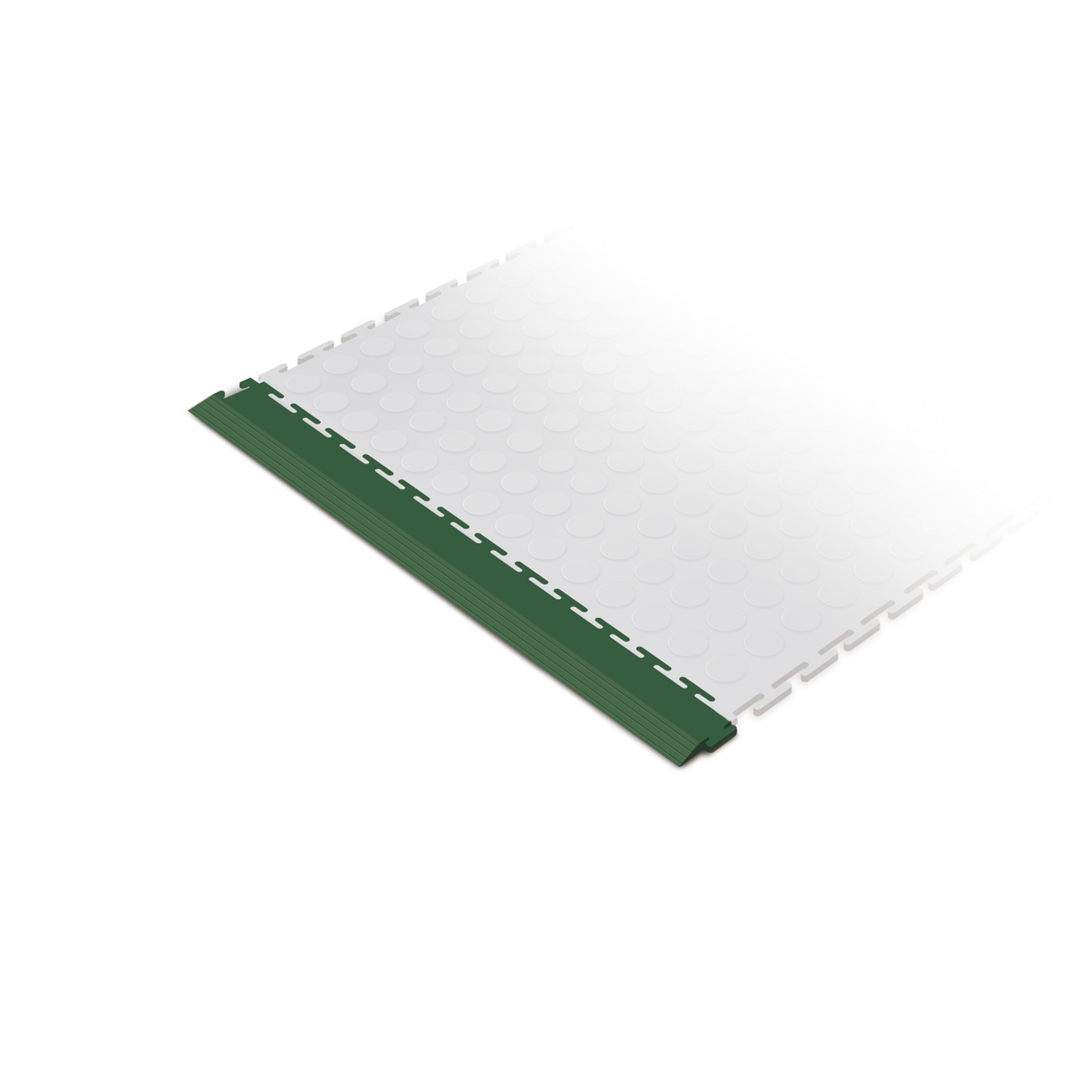 Heavy-duty edge ramp tile (green)