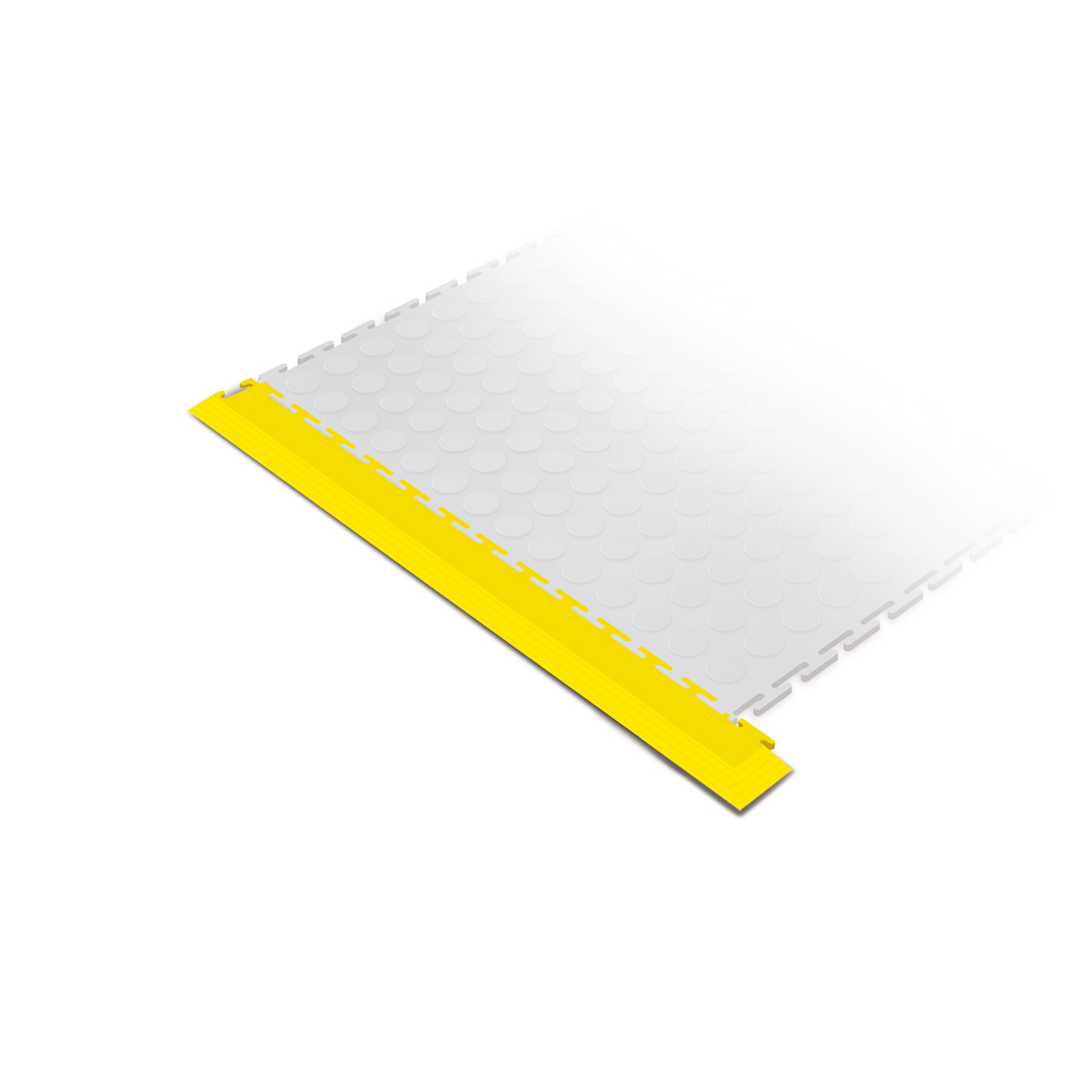 Heavy-duty corner edge ramp tile (yellow)