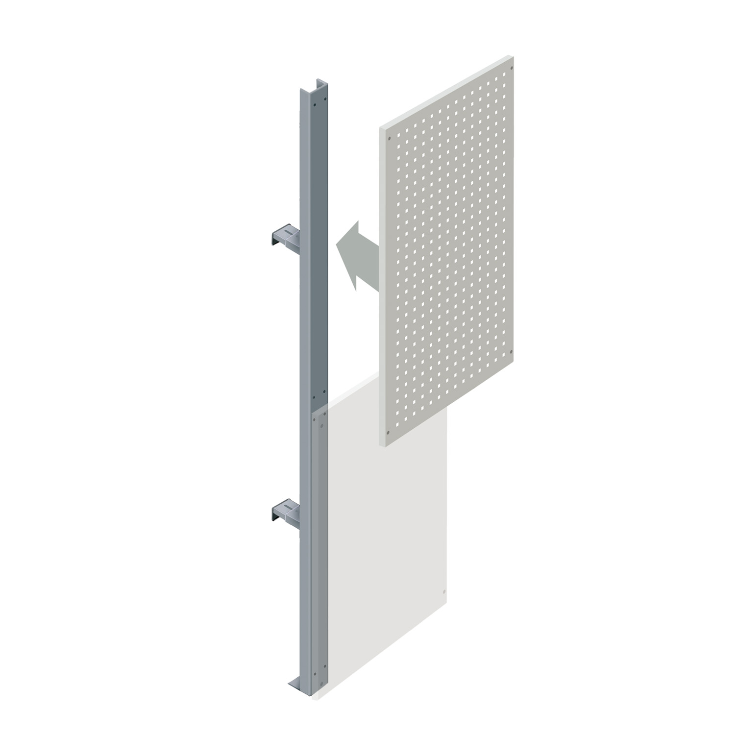 Upper Squarepeg Partition Walling Panel (600mm)