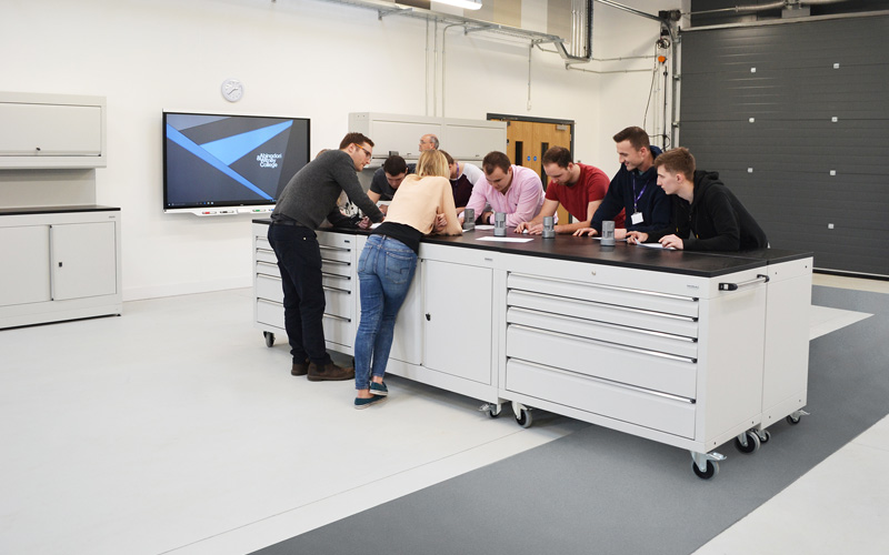 dura installation Abingdon and Witney College - Advanced Skills Centre.